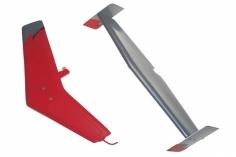 MD500 Leitwerkset in Rot für 500er