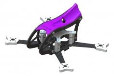 Lynx MAKO 2 FPV Racer Rahmen Set in violett für Blade Torrent 110 FPV