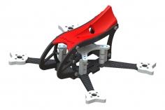 Lynx MAKO 2 FPV Racer Rahmen Set in rot für Blade Torrent 110 FPV