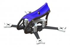 Lynx MAKO 2 FPV Racer Rahmen Set in blau für Blade Torrent 110 FPV