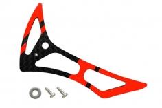 Rakonheli Leitwerk Set aus Carbon in rot für Blade 180 CFX und 180 CFX Trio