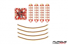 Furious FPV Lightning PDB Lichtsteuerung mit 4 Stück RGB LED Streifen 2 Reihig spritzwassergeschützt mit Anschlusskabel