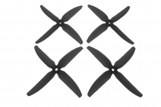 HQ Durable Prop Propeller 5X4X4V1S aus Poly Carbonate in schwarz je 2CW+2CCW