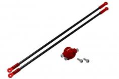 Rakonheli Heckstreben Carbon/Alu in rot für Blade 130 S nur in Verbindung mit Rakonheli Hauptrahmen 130S452