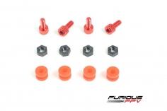 Furious FPv Dämpfer Set aus silikon und M3 CNC gefräste Schrauben für Flugkontroller