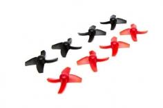 Blade Inductrix FPV Propeller Set 8 Stück 4 x rot und 4 x schwarz