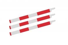 HeliTec der Blattschmied Scale Hauptrotorblätter 3Blatt symetrisch in matt weiß mit roten Streifen 435mm
