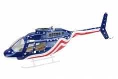 700er Scale Rumpf Jet Ranger 206 Stars & Stripes