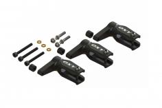 OXY Ersatzteil Hauptrotorblatthalter  Pro Edition in schwarz für OXY3 Dreiblatt