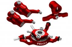 Rakonheli Taumelscheibe und Rotorkopf Set in rot CNC Aluminium für Blade mCP S, mCP X und mCP X V2
