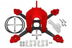 Rakonheli Tuning Rahmen aus carbon in rot für Blade Torrent 110 FPV
