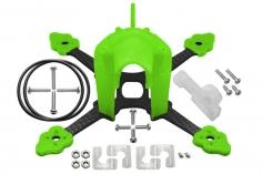 Rakonheli Tuning Rahmen aus carbon in grün für Blade Torrent 110 FPV