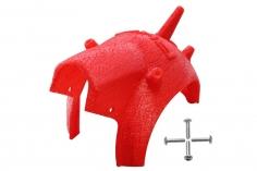 Rakonheli Haube für Tuning Rahmen aus carbon in rot für Blade Torrent 110 FPV