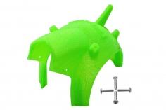 Rakonheli Haube für Tuning Rahmen aus carbon in grün für Blade Torrent 110 FPV
