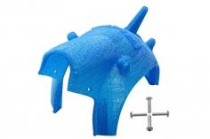 Rakonheli Haube für Tuning Rahmen aus carbon in blau für Blade Torrent 110 FPV