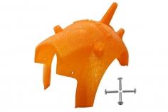Rakonheli Haube für Tuning Rahmen aus carbon in orange für Blade Torrent 110 FPV