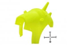 Rakonheli Haube für Tuning Rahmen aus carbon in gelb für Blade Torrent 110 FPV
