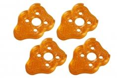 Rakonheli Motordämpfer für Tuning Rahmen aus carbon in orange für Blade Torrent 110 FPV
