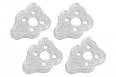 Rakonheli Motordämpfer für Tuning Rahmen aus carbon in weiß für Blade Torrent 110 FPV