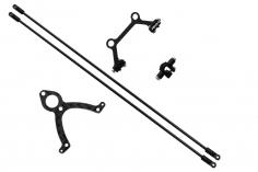 Rakonheli Heckstrebenhalterungs Set in Carbon/Alu schwarz für Blade mCP S