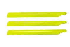 OXY Ersatzteil 3 Blatt Hauptrotorblätter aus Kunststoff in gelb 190mm für OXY2