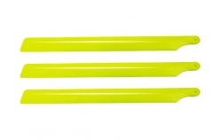 OXY Ersatzteil 3 Blatt Hauptrotorblätter aus Kunststoff in gelb 210mm für OXY2