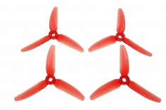 HQ Durable Prop Propeller 4X4,3X3V1S aus Poly Carbonate in rot transparent je 2CW+2CCW