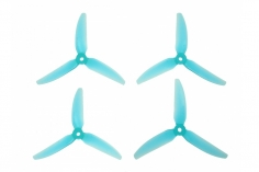 HQ Durable Prop Propeller 6X3X3V1S aus Poly Carbonate in blau transparent je 2CW+2CCW