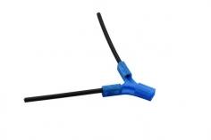 Antennenhalter 3D Druck flach in blau mit Antennenrohr