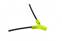 Antennenhalter 3D Druck flach in gelb mit Antennenrohr