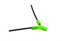Antennenhalter 3D Druck flach in grün mit Antennenrohr