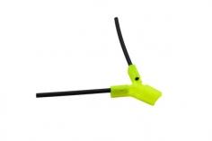 Antennenhalter 3D Druck rund in gelb mit Antennenrohr