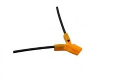 Antennenhalter 3D Druck rund in orange mit Antennenrohr