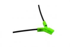 Antennenhalter 3D Druck rund in grün mit Antennenrohr