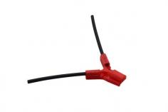 Antennenhalter 3D Druck rund in rot mit Antennenrohr