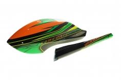Fusuno Speedrumpf im Green Snake Design für SAB Goblin 280 Fireball