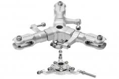 Rakonheli 3 Blattrotorkopf Set aus Alu in silber für Blade 180 CFX Trio