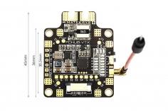 Matek FCHUB und Videosender 25mW 200mW 500mW umschlatbar 40 Kanäle 6-27Volt, 5V BEC und Current Sensor mit 184 Ampere