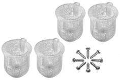 Rakonheli 8 mm Motorhalterungen in weiß für Inductrix FPV+ Tuning Rahmen