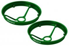 Rakonheli Propellerschützer aus Alu in grün 40mm - 8 mm Motoren für Rakonheli Tunning Rahmen für den Blade Inductrix FPV+