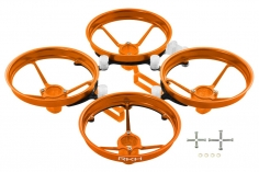 Rakonheli Tuning Rahmen aus carbon in orange für Blade Inductrix FPV+