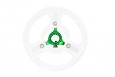 Rakonheli Hauptzahnrad Delrin mit Alu Nabe in grün für T-REX 150