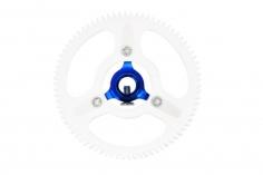 Rakonheli Hauptzahnrad Delrin mit Alu Nabe in blau für T-REX 150