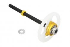 Rakonheli Freilauf SET in gelb inkl Welle aus carbon für T-REX 150