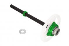Rakonheli Freilauf SET in grün inkl Welle aus carbon für T-REX 150