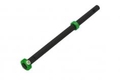 Rakonheli Hauptrotorwelle aus Carbon mit Alu Stellring in grün für T-REX 150