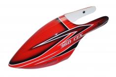 Fusuno Red Shadow Design Airbrush fiberglas Kabinenhaube für Blade 360CFX