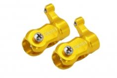 Rakonheli Hauptblatthalter CNC Aluminium in gelb für T-REX 150
