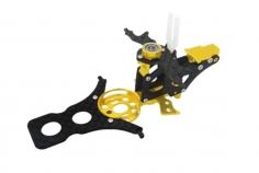Rakonheli Hauptrahmen aus Carbon in gelb für T-REX 150