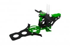 Rakonheli Hauptrahmen aus Carbon in grün für T-REX 150